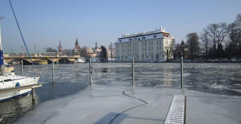 Koepenick Schloss Winter Bootschulung